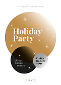 Holiday Party with Christmas Baubles. Stock illustration