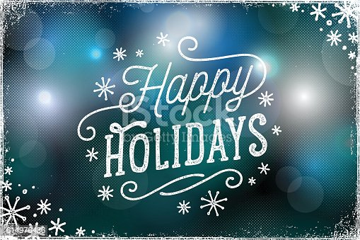 Holiday Photo Overlay with Bokeh Lights Background
