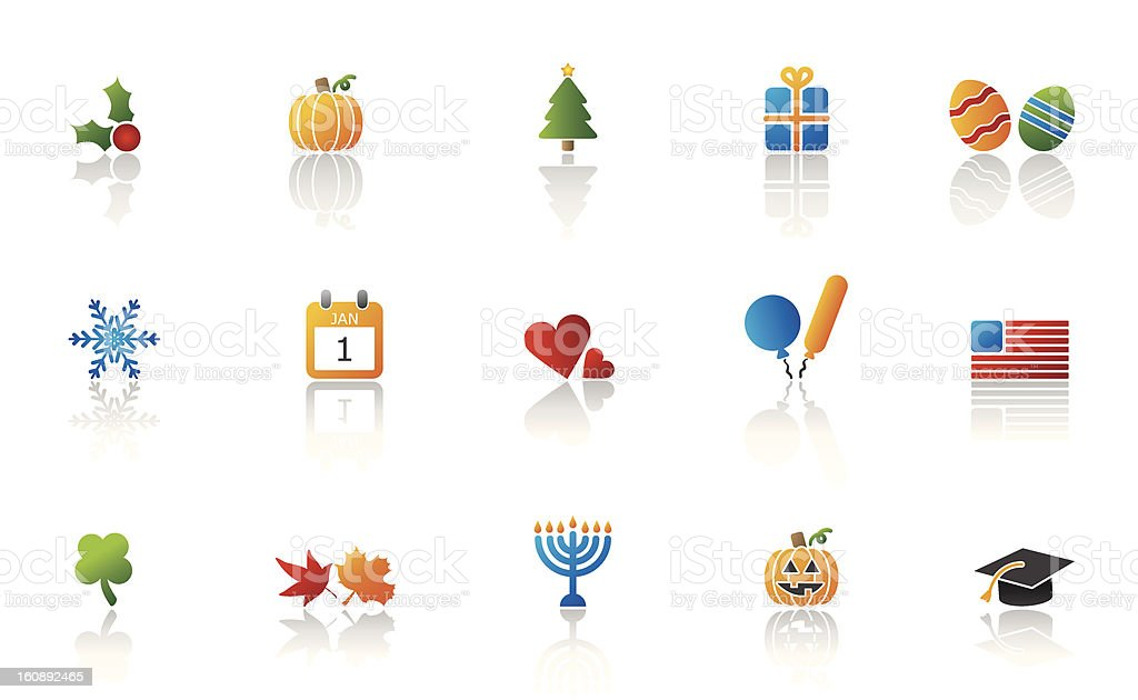 Holiday representation icon set royalty-free holiday representation icon set stock vector art & more images of american flag