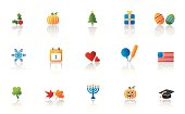 Holiday representation icon set