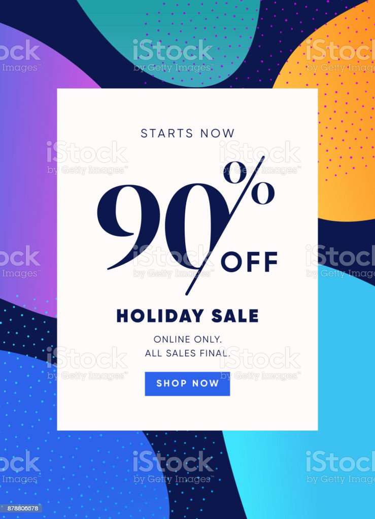 Holiday Sale Banner 90 Rabatt Sonderangebot Ad Rabattaktion Vector