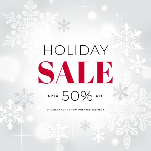 holiday sale banner - holiday season stock illustrations