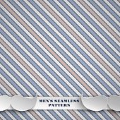 Holiday seamless blue and beige pattern, fashion hipster background with strips and mustaches for fathers day or men's event greeting card, banner or poster. Vector illustration