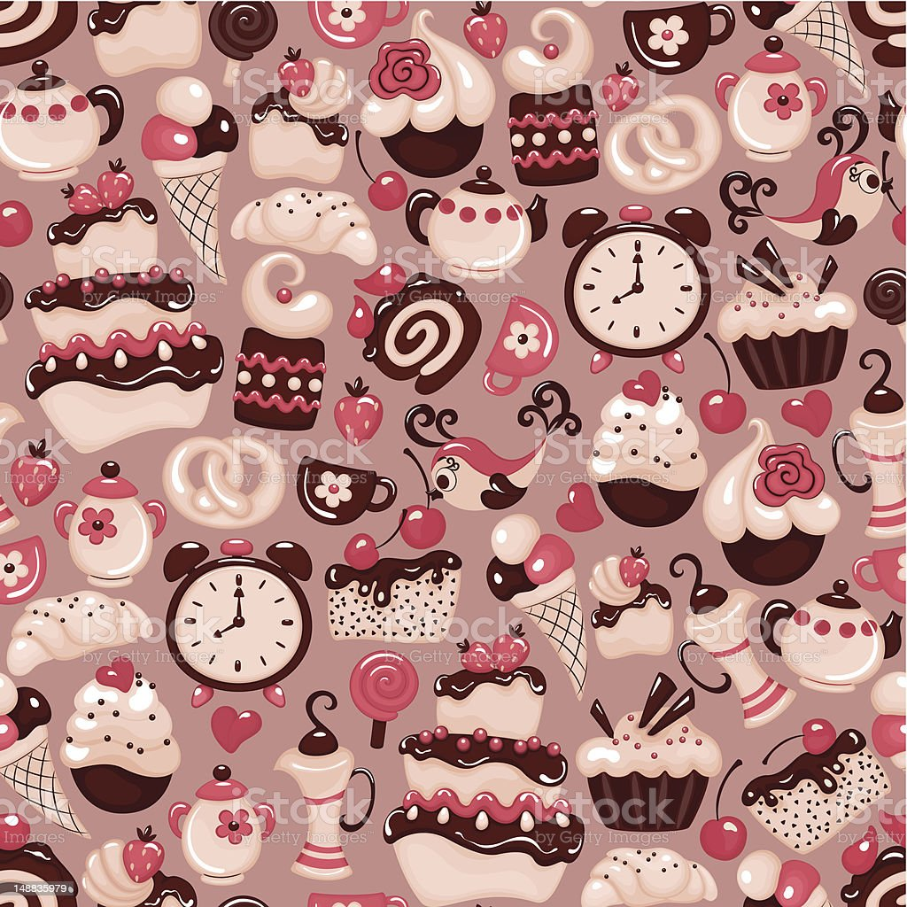Holiday seamless pattern from sweet vector art illustration