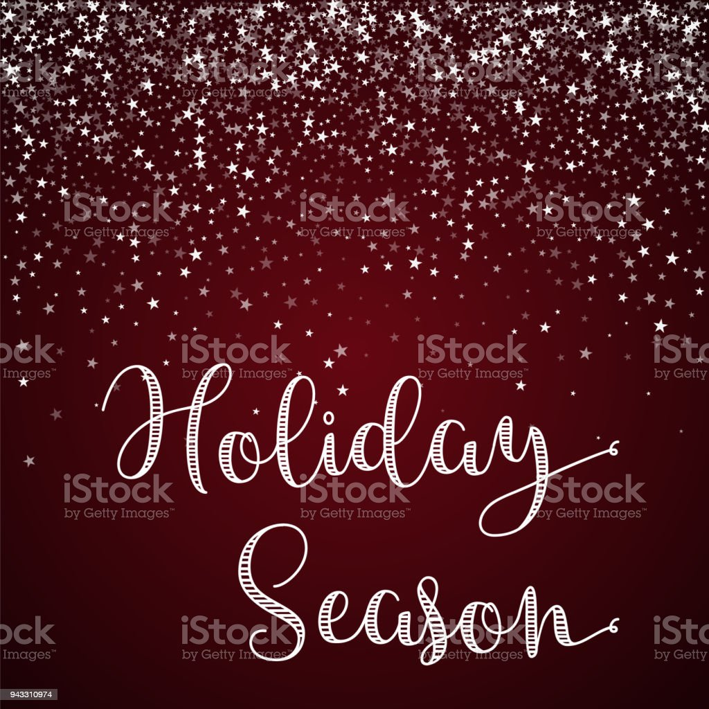 Holiday Season Greeting Card Stock Vector Art More Images Of