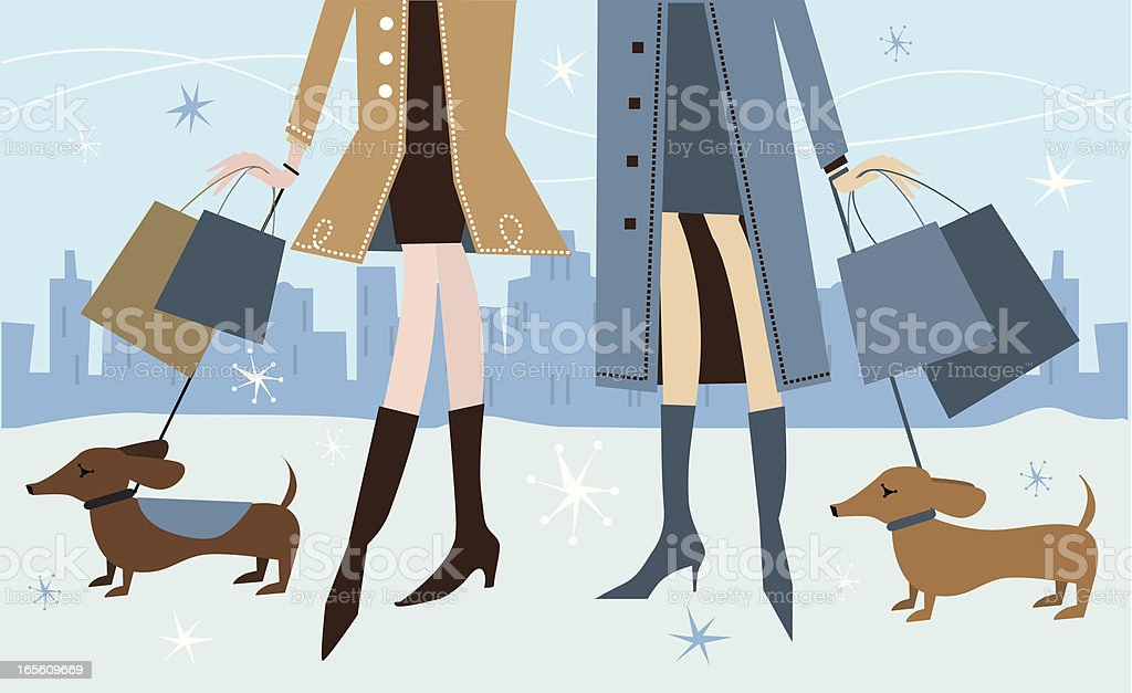 Holiday Shopping royalty-free stock vector art