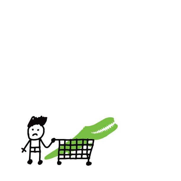 shopping pour les fêtes - Illustration vectorielle