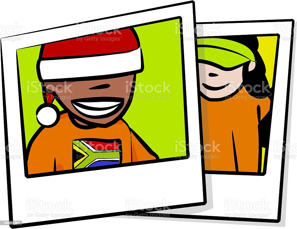 Holiday Snap Shots royalty-free holiday snap shots stock vector art & more images of child