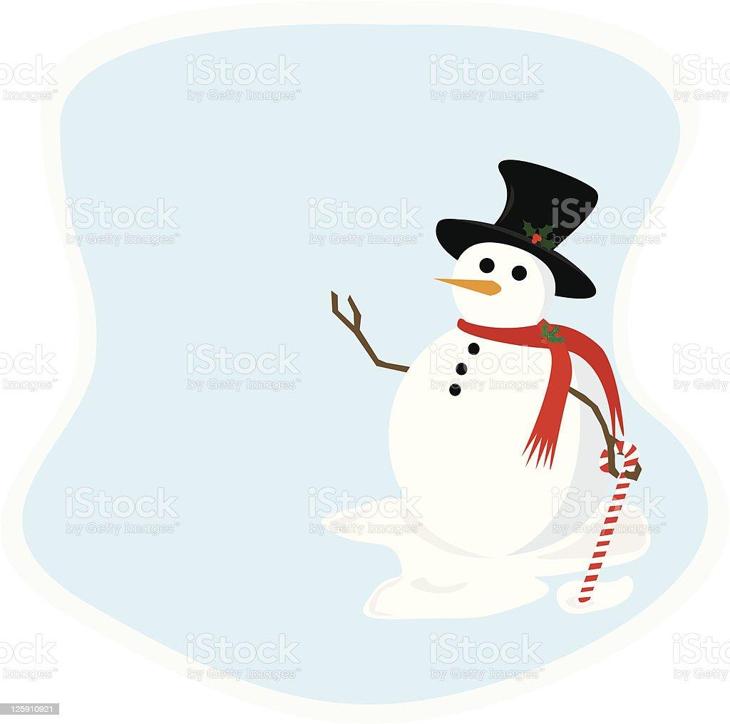 Holiday Snowman royalty-free stock vector art