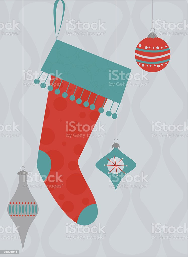 Holiday Sock royalty-free holiday sock stock vector art & more images of 1950-1959