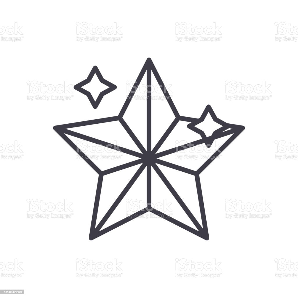 Holiday star lights black icon concept. Holiday star lights flat  vector symbol, sign, illustration. royalty-free holiday star lights black icon concept holiday star lights flat vector symbol sign illustration stock vector art & more images of abstract