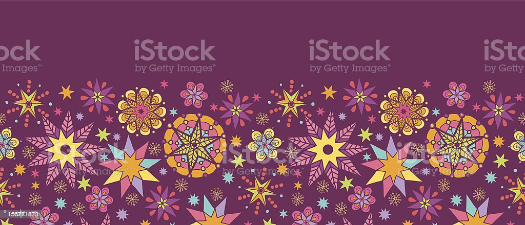Holiday Stars Horizontal Seamless Pattern Ornament royalty-free stock vector art