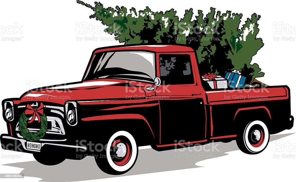 Holiday Truck vector art illustration