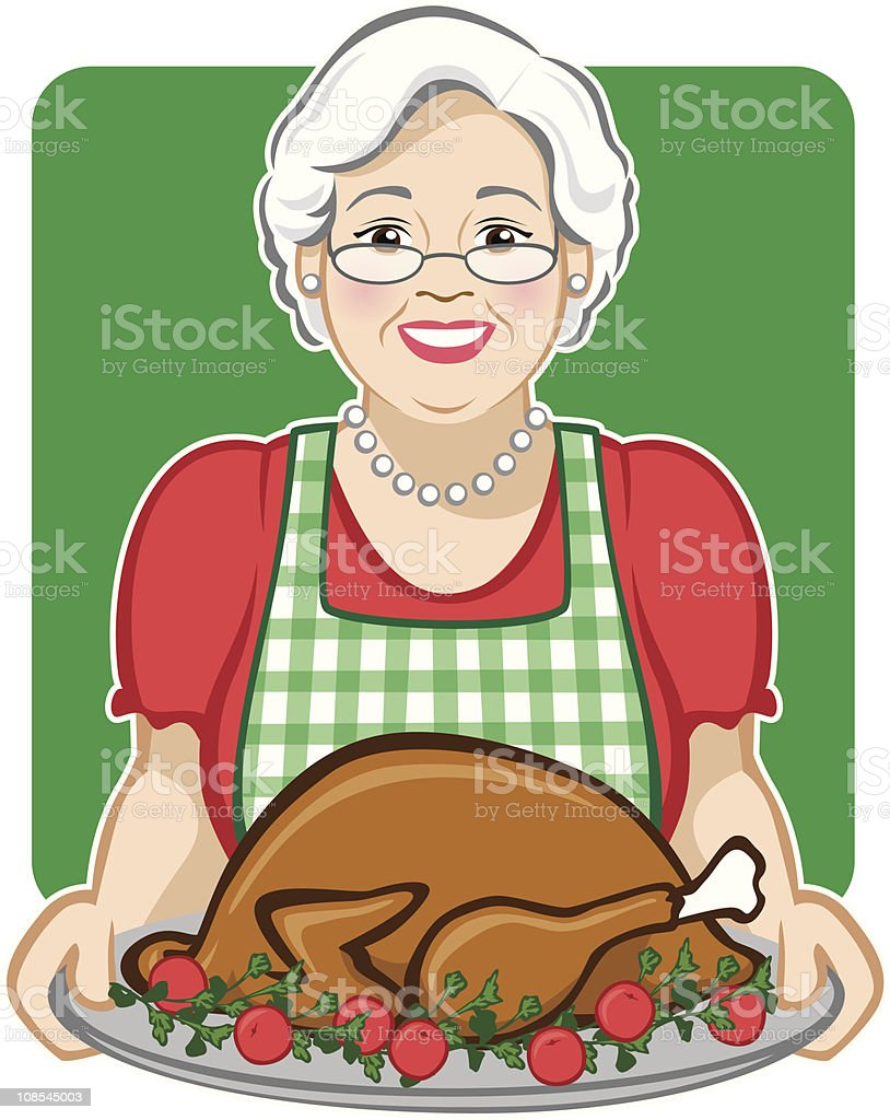 Holiday Turkey royalty-free stock vector art