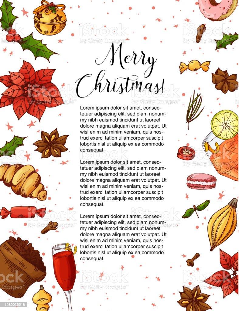 Weihnachtsfeier Plakat.Urlaubvintagedesign Für Die Karte Weihnachtsfeier Plakat Mit