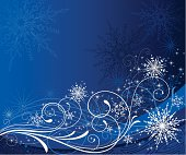Festive holiday design with scrolls and snowflakes over a wave background. Hi res jpeg included.Scroll down to see more of my designs linked below.