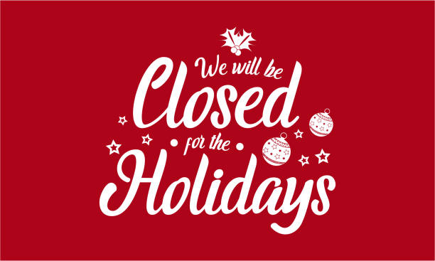 stockillustraties, clipart, cartoons en iconen met vakantie, we zullen worden gesloten - dicht