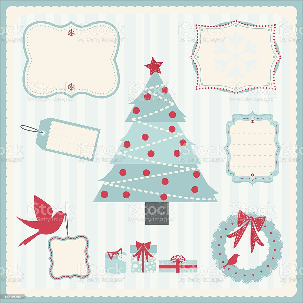 Holiday Whimsy vector art illustration