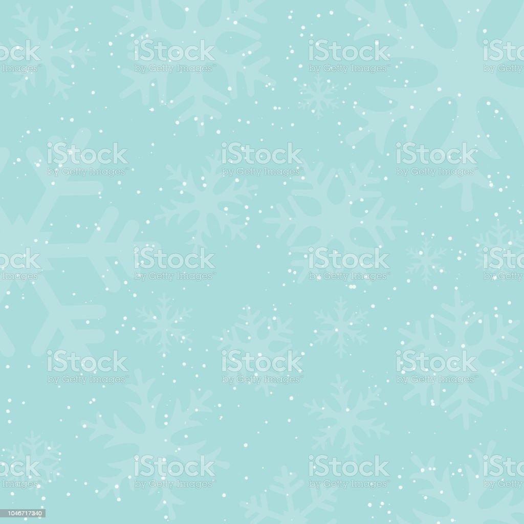 Fondo con siluetas de nieve y copos de nieve caen en vacaciones invierno. Colores vintage. Año nuevo o Navidad como telón de fondo. Ilustración de vector. - arte vectorial de Abstracto libre de derechos