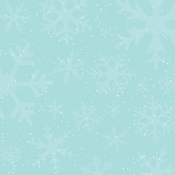 holiday winter background with falling snow and snowflake silhouettes. vintage colors. new year or christmas backdrop. vector illustration. - holiday backgrounds stock illustrations, clip art, cartoons, & icons
