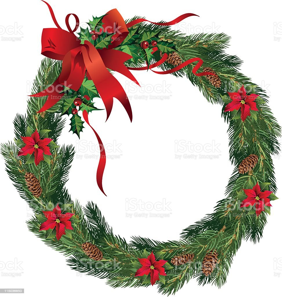 Holiday Wreath royalty-free holiday wreath stock vector art & more images of christmas decoration