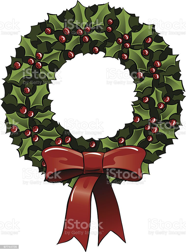 Holiday Wreath royalty-free holiday wreath stock vector art & more images of berry fruit
