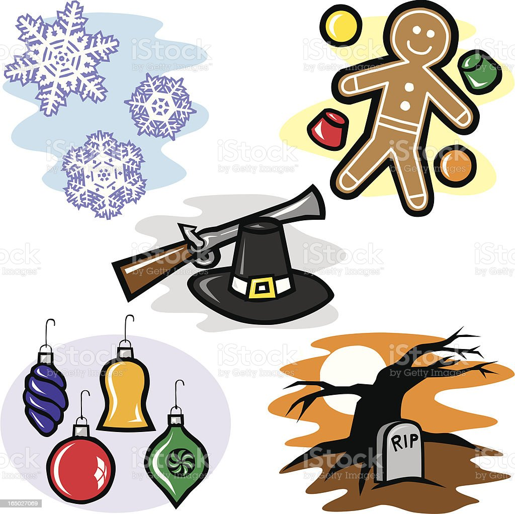 Holidays 3 royalty-free stock vector art