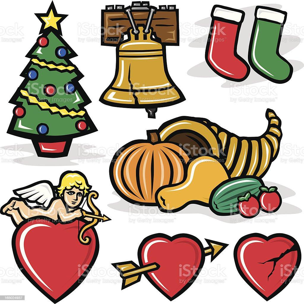 Holidays 4 royalty-free stock vector art