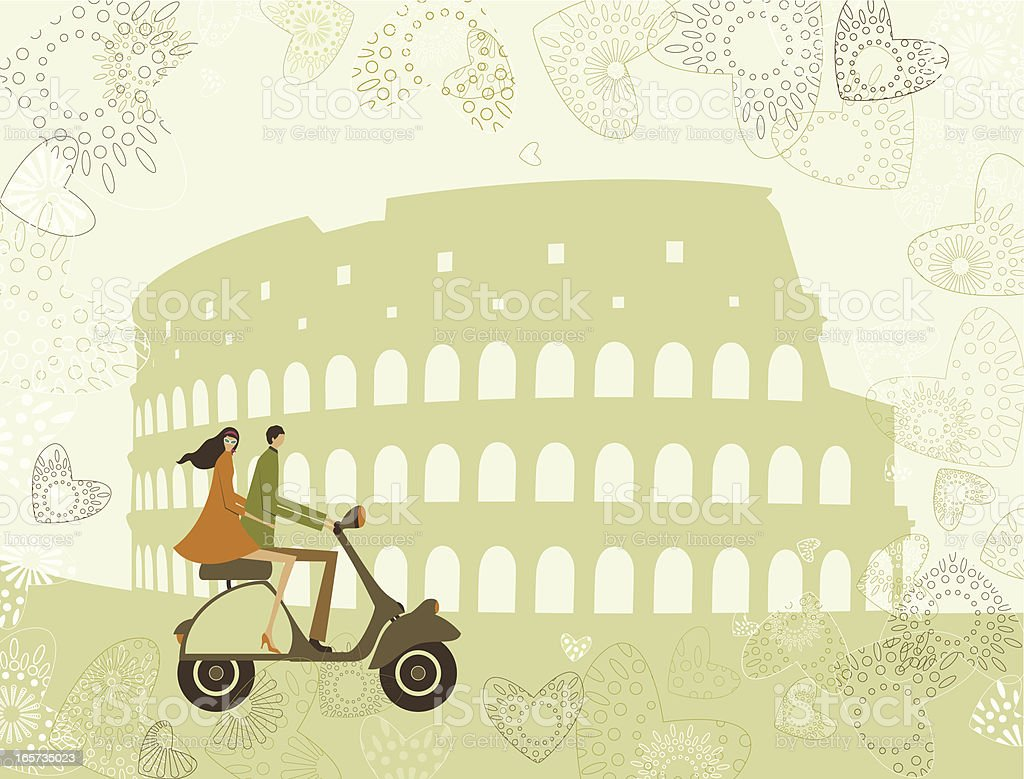 Holidays at Rome royalty-free stock vector art
