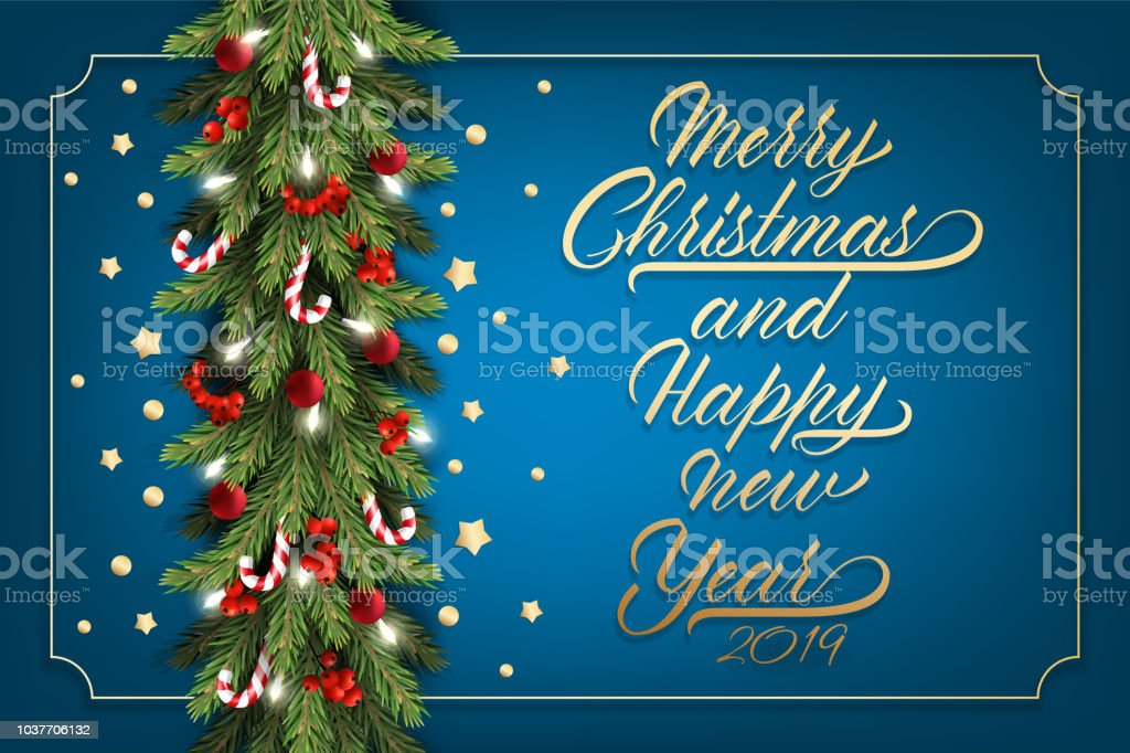 holidays background for merry christmas greeting card with a