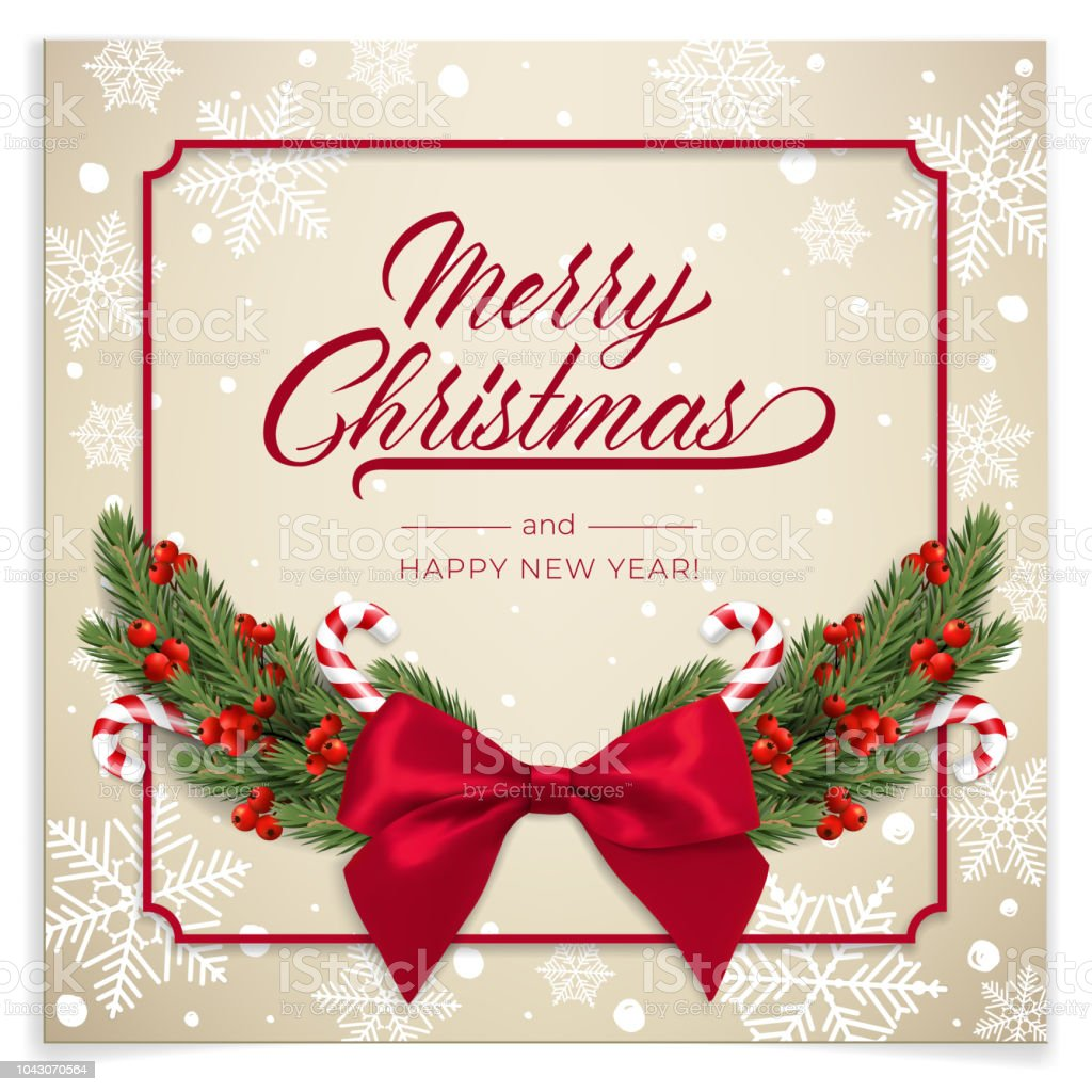Holidays Background For Merry Christmas Greeting Card With