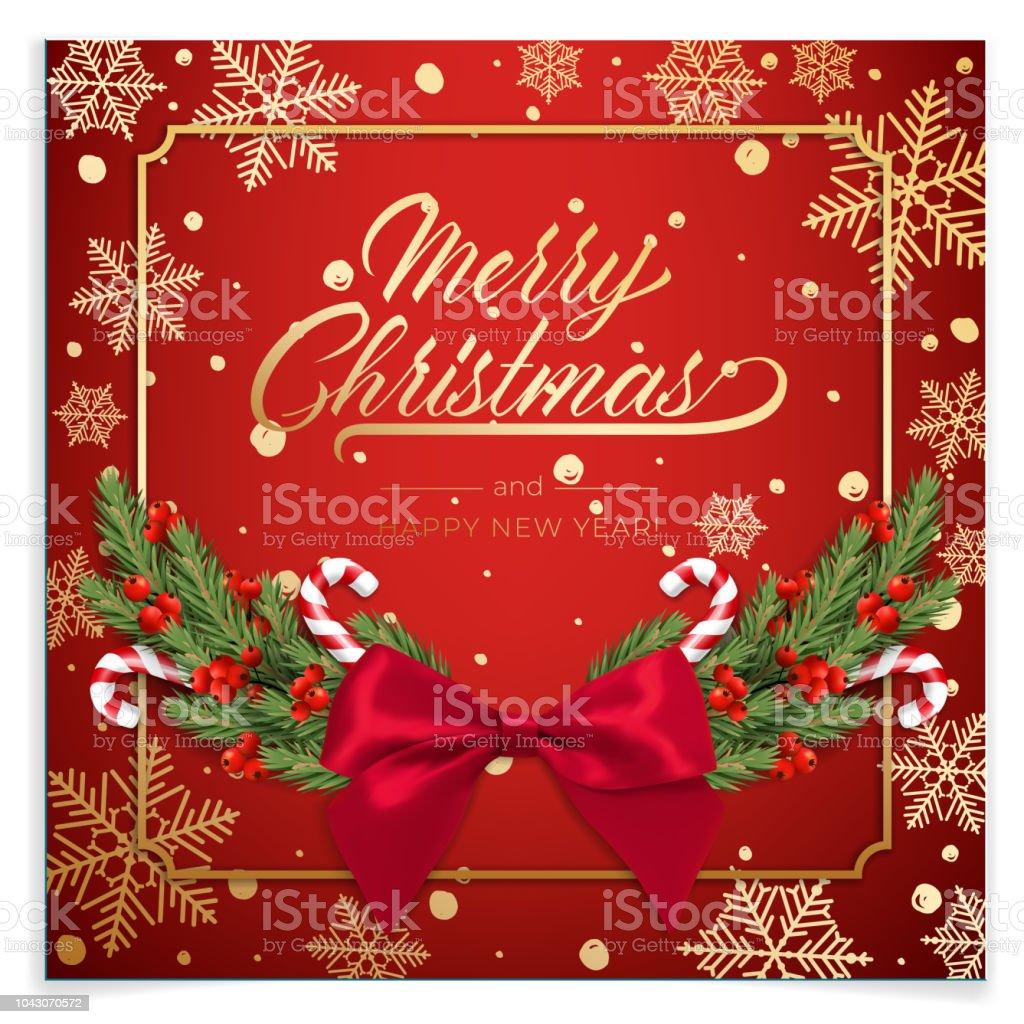 Vakanties Achtergrond Voor Merry Christmas Wenskaart Met Een