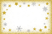 The eps file is organised into layers for the background, the frame, the stars and the snowflakes. Every single snowflake or star is a separate grouped object. You can move, delete or edit any object or group of objects.