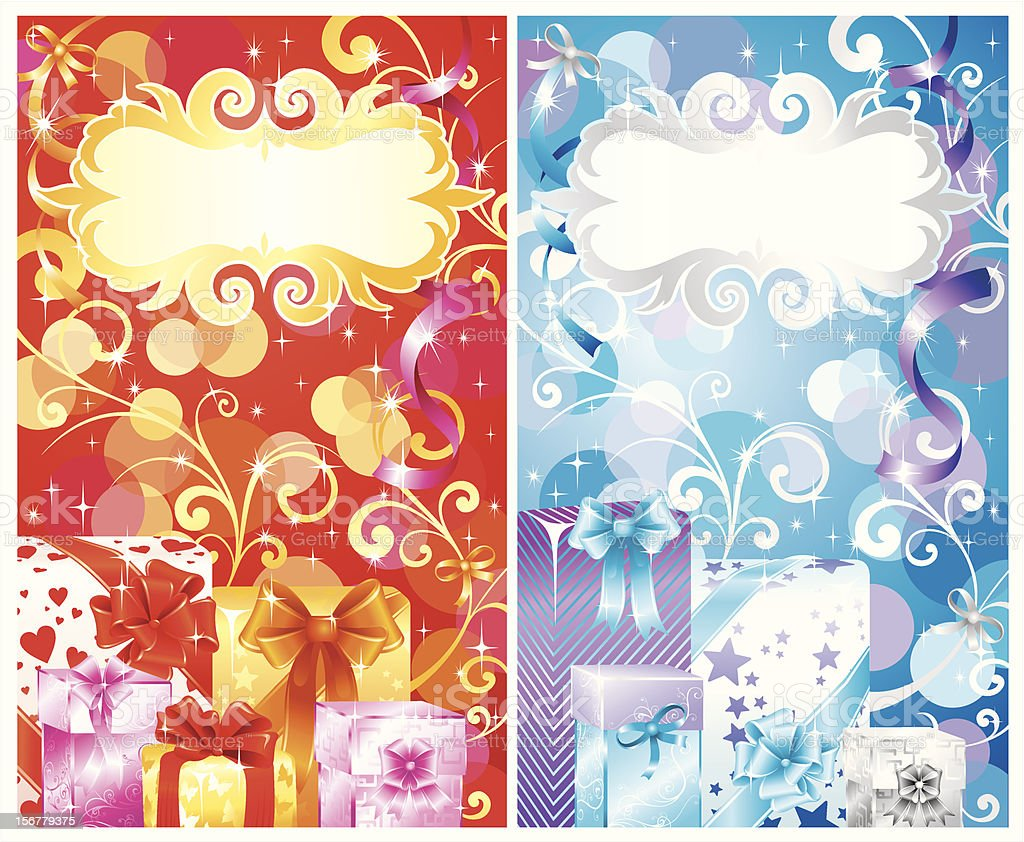 Holidays gift box and wrapping set royalty-free holidays gift box and wrapping set stock vector art & more images of backgrounds
