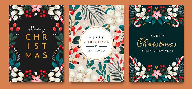 Holidays greeting cards