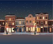 City background. Merry Christmas illustration. EPS10. Contains transparency.
