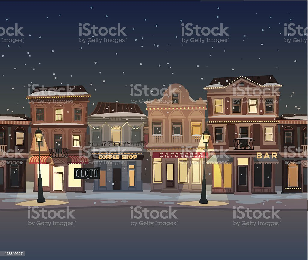 Holidays in the city vector art illustration