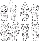 Holidays kids coloring set