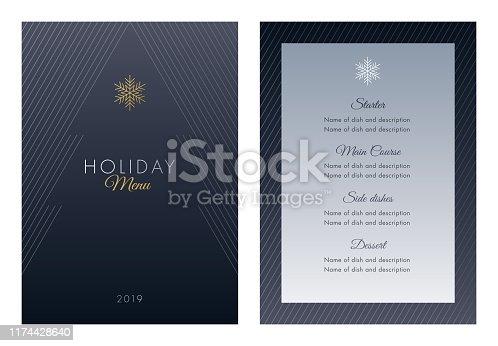 istock Holidays Menu Template. 1174428640