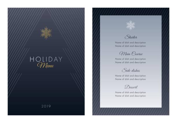 feiertage menüvorlage. - menu card stock-grafiken, -clipart, -cartoons und -symbole