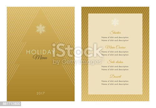 istock Holidays Menu Template. 881712800
