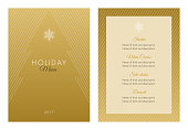 Holidays Menu Template - Illustration