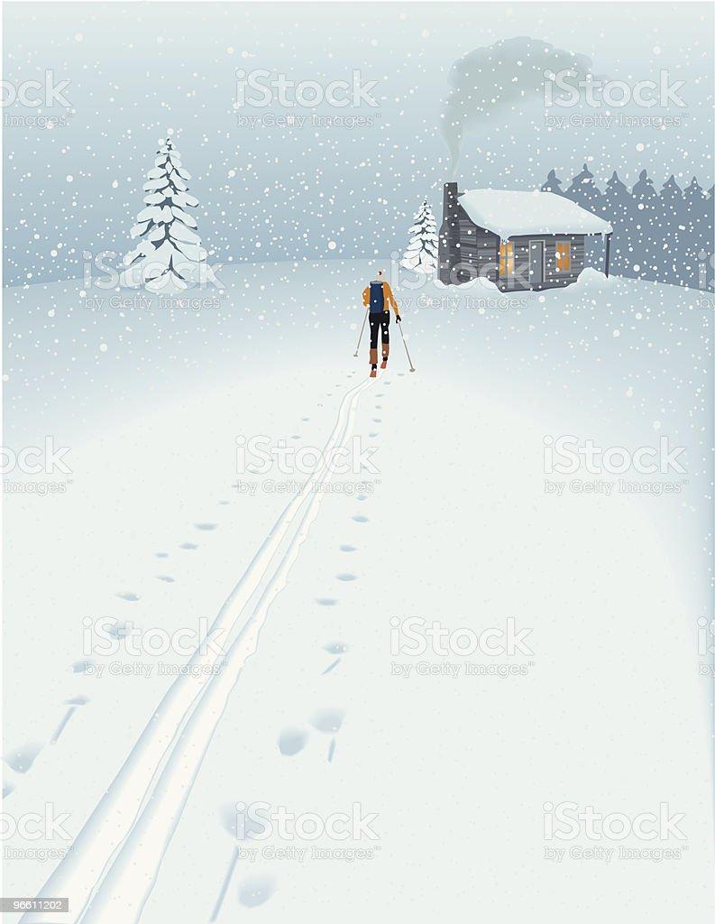 Holidays! (in a winter landscape) - Royaltyfri Arkitektur vektorgrafik