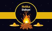 Holika dahan festival banner design