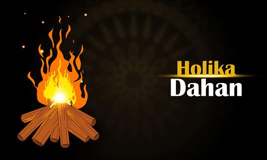 Holika Dahan illustation design