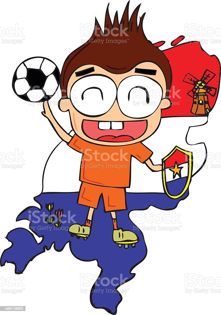 Holland Football Player royalty-free stock vector art
