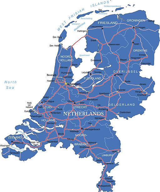 stockillustraties, clipart, cartoons en iconen met holland map - eindhoven
