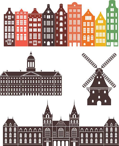 illustrations, cliparts, dessins animés et icônes de holland - dam