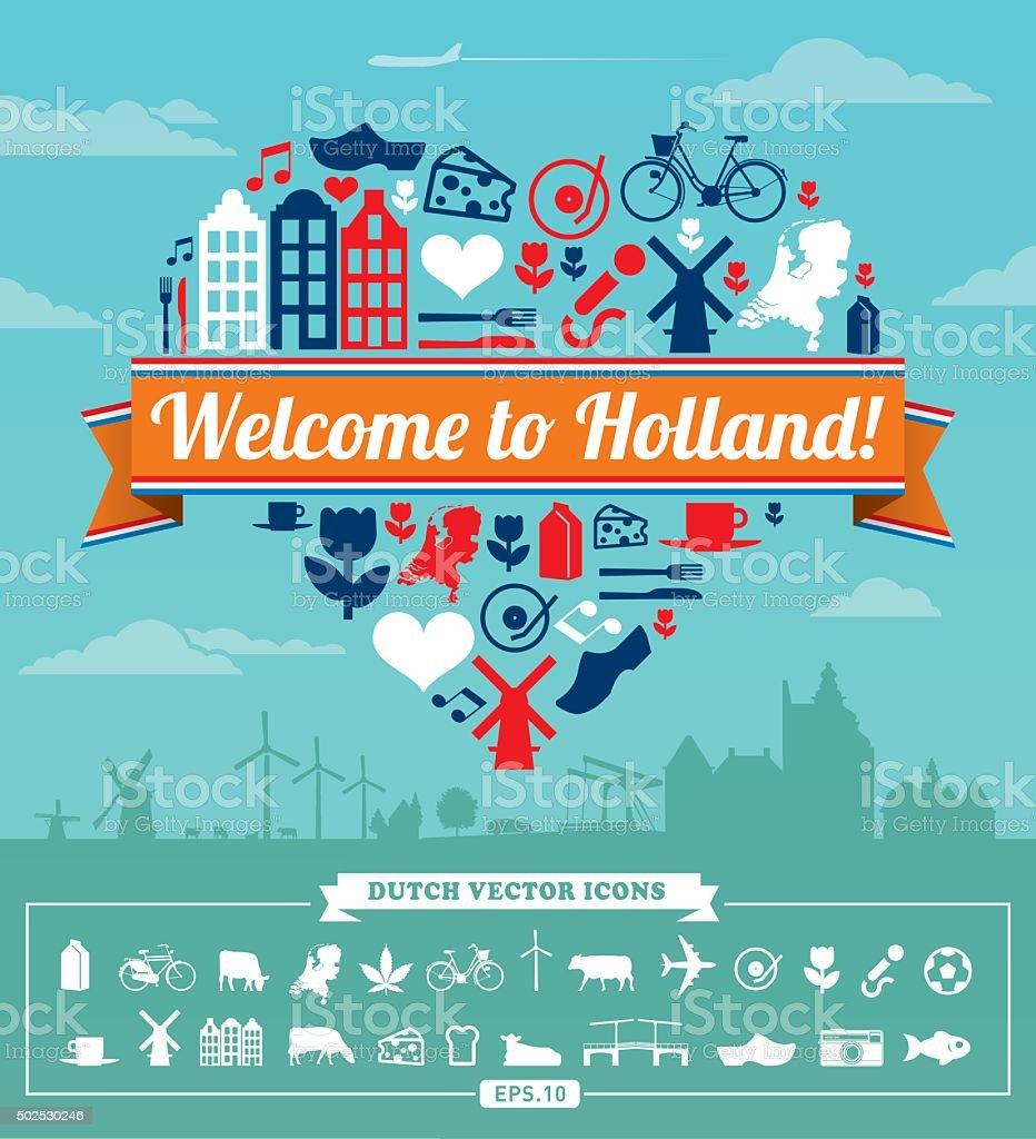 Holland vector set vector art illustration