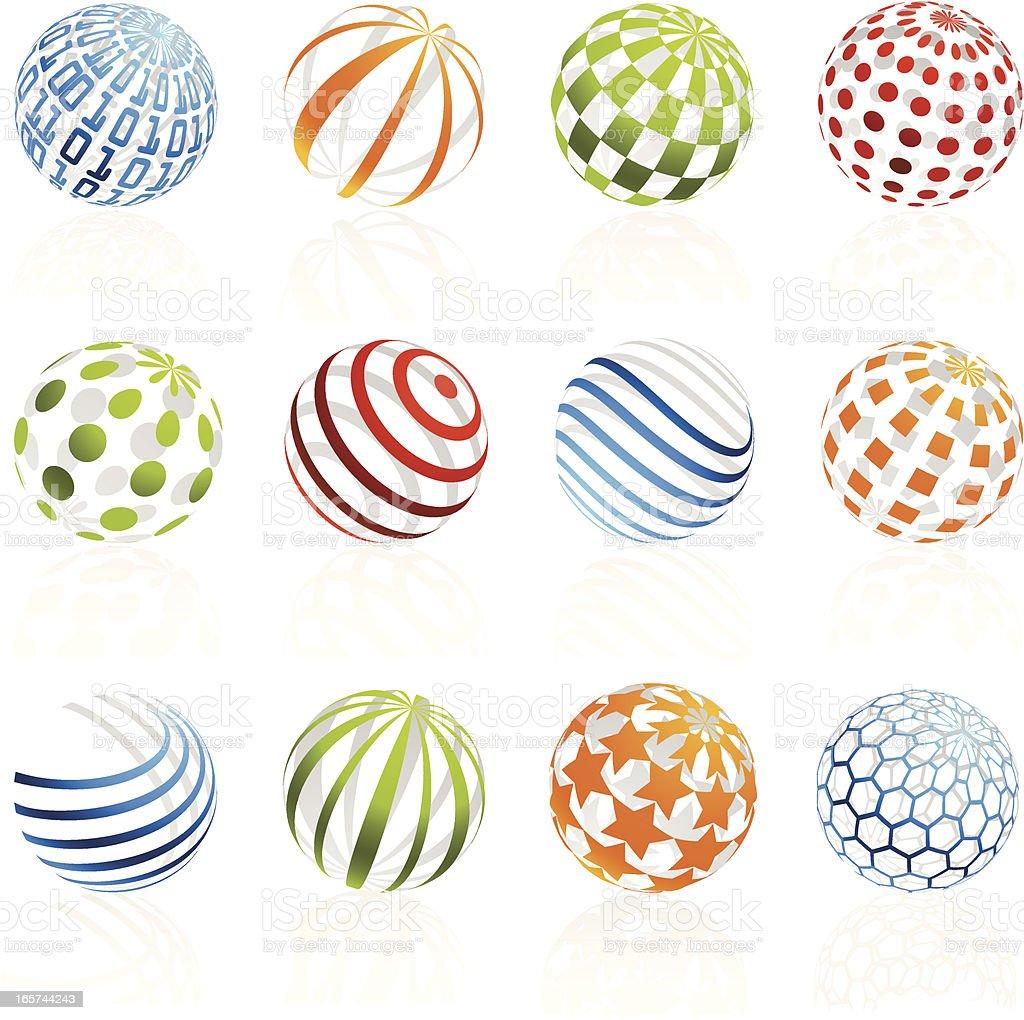 Hollow Sphere Design Elements royalty-free stock vector art